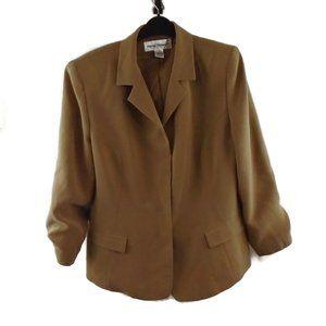 Rena Rowan Blazer Suit Jacket 16 Tan Beige